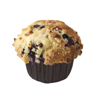 Muffin relleno de blueberry