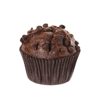 Muffin de chocolate.